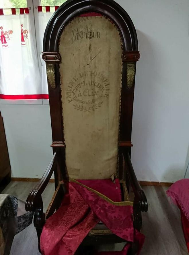 Restauration du fauteuil de l'évêque