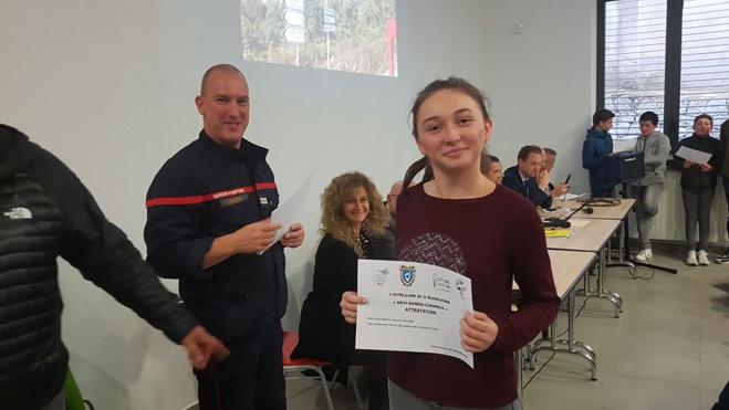 Quinze cadets de la sécurité civile au collège de Vico