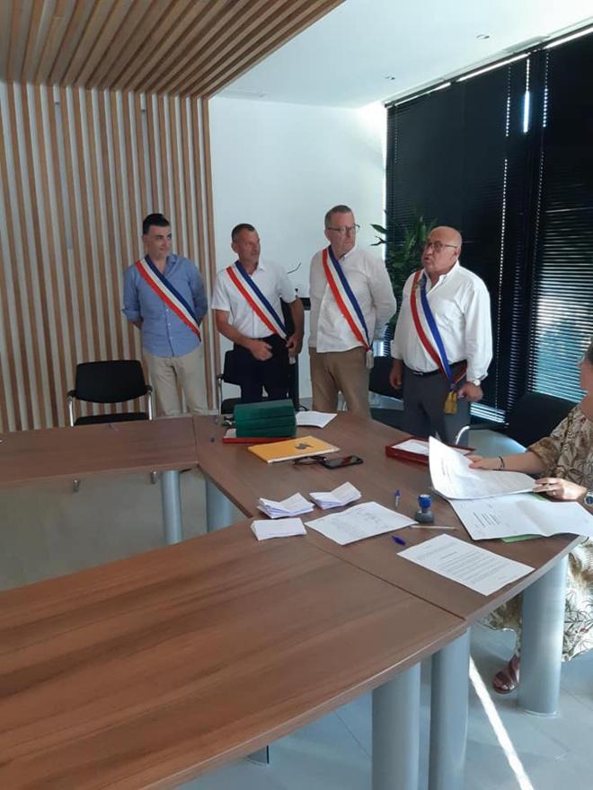 Le maire et ses adjoints