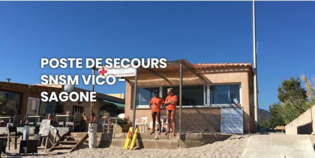Ouverture du poste de secours de la plage de Sagone