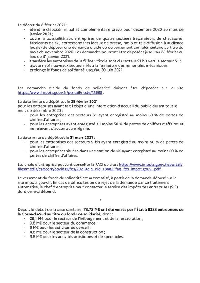 Communiqué de la préfecture portant sur le fonds de solidarité dédié aux entreprises afin de faire face à la crise sanitaire