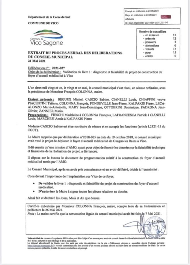 Conseil Municipal du 21 Mai 2021