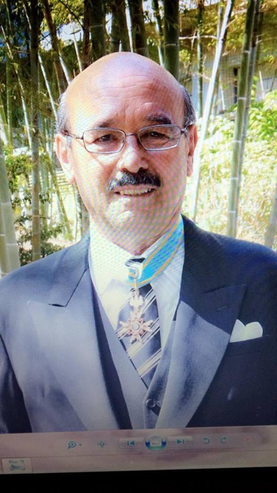 """André Antoine Gardella reçoit de l'Empereur du Japon """" Les Rayons d'Or en Sautoir de l'Ordre du Trésor Sacré """""""