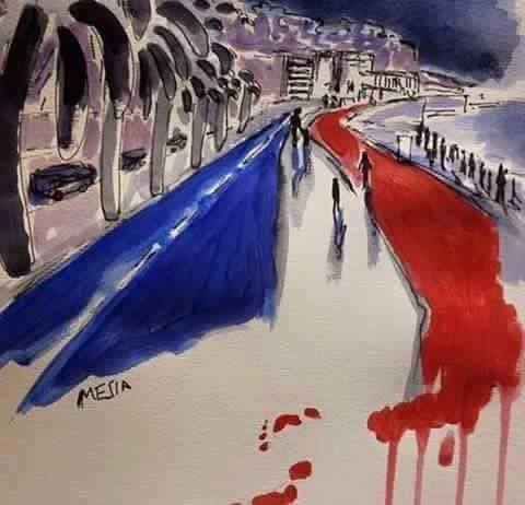 Solidarité avec les victimes du terrible attentat de Nice.
