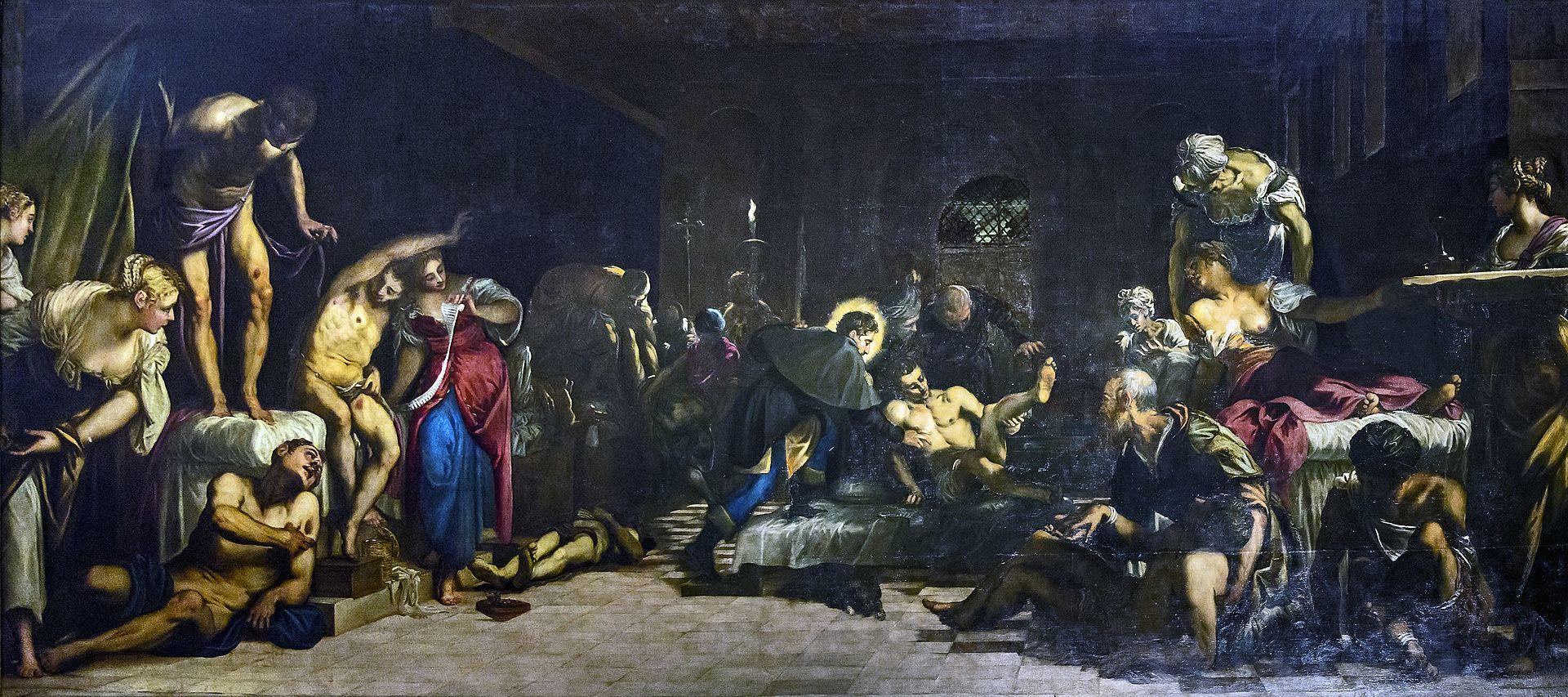 Tableau du Tintoret : San Rocco soignant les pestiférés