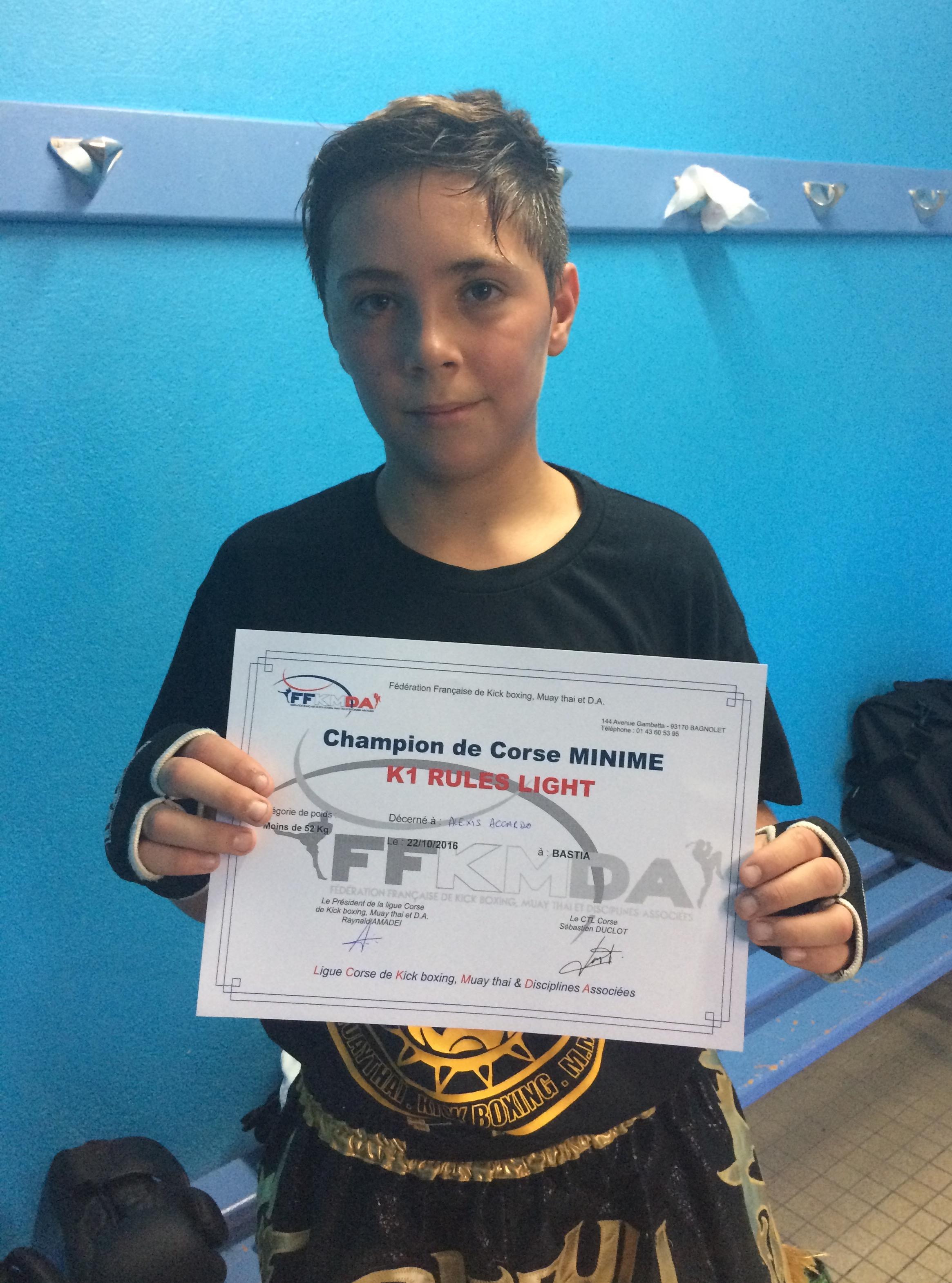 Vico a son champion de Corse