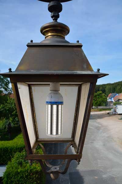 Eclairage avec ampoule Led