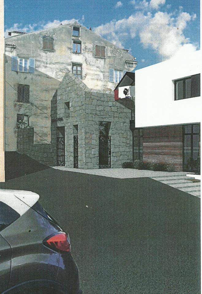 Construction de la future mairie de Vico Sagone