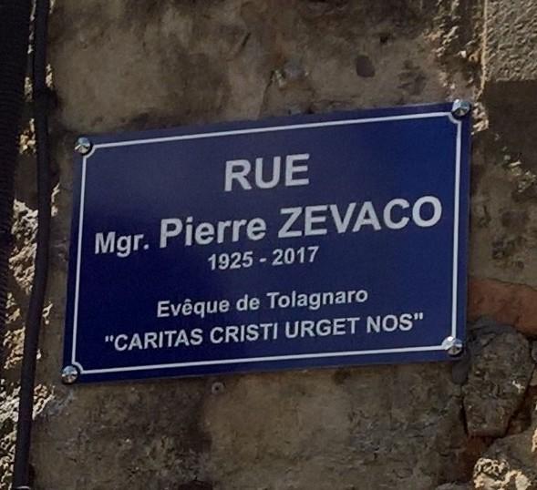 Inauguration de la rue Monseigneur Pierre Zevaco