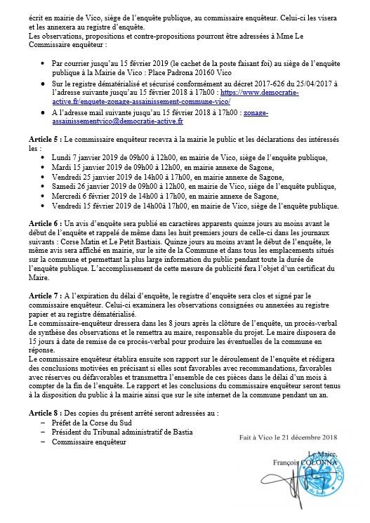 Enquêtes publiques : PLU et Zonage d'assainissement