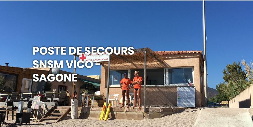 Horaires d'ouverture du Poste de Secours sur la plage de Sagone