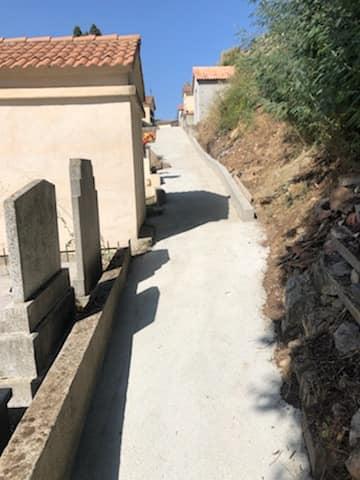 Travaux au cimetière San Binadettu