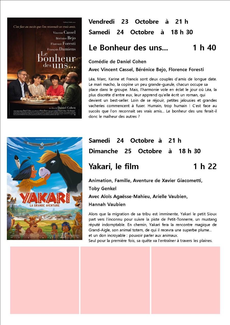 Cinéma Associu Scopre Marignana Octobre 2020