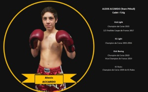 Alexis Accardo vice champion de France de K1 et de Kick Boxing
