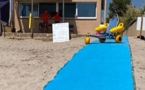 Plage de Sagone : Tapis d'accès à la mer et Tiralo